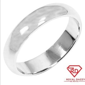 3.5mm Size 8 Handmade solid 990 silver ring band
